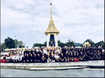 Performed in front of the royal tomb.