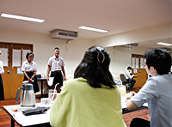 ภาพการสอบสัมภาษณ์และปฏิบัติ การรับนักศึกษาใหม่ รอบ portfolio 1/1 ปีการศึกษา 2561