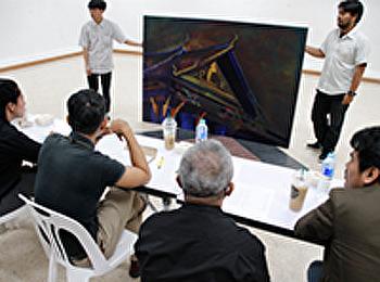 การตรวจศิลปนิพนธ์ ครั้งที่ 2 สาขาวิชาจิตรกรรม คณะศิลปกรรมศาสตร์