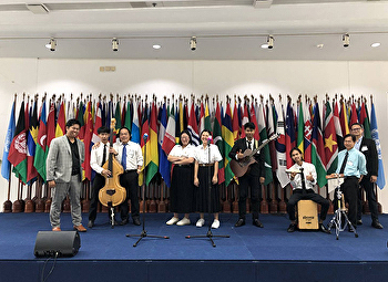 Music students perform music at United Nations Day 2018