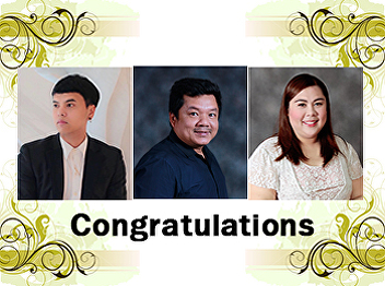 Congratulations to three academic staffs who have received the position