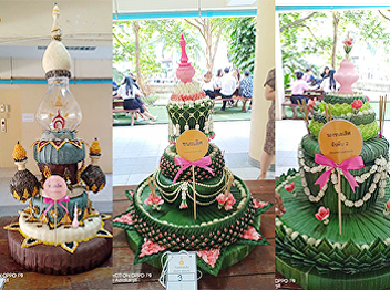 Students of the Faculty of Fine and Applied Arts Won three awards from the Krathong contest. On Loy Krathong Day 2018