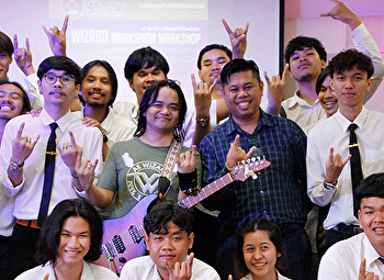 Music Department organized mini concert and workshops by famous rock guitarists in Thailand