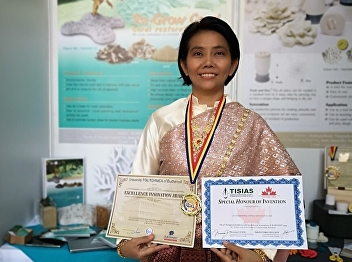 Dr.Nichanant Sermsri, won gold medal in international stage research