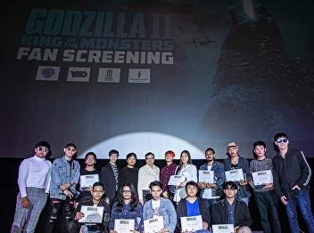 Mr. Akkpark Youngkhun received the top 10 awards, FanArt Godzilla