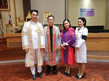 Mr.Thanat Pitipornthepin received an honorary graduate of Performing arts