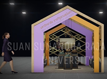 Miss Pakkaporn Pimsarn, our lecturer who designed the booth of Suan Sunandha Rajabhat University in the event