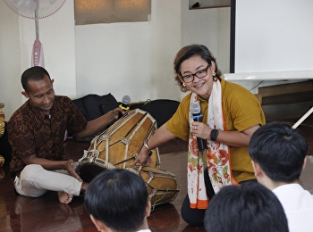 workshop ศิลปะวัฒนธรรมและเครื่องดนตรีของประเทศอินโดเนเซีย จาก UNNES