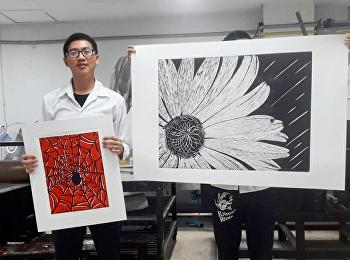 Woodcut Printmaking ภาพพิมพ์แกะไม้ครั้งที่ 1 สาขาวิชาจิตรกรรม