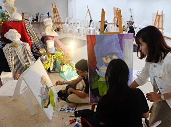 Painting Department has organized a project to develop the creative potential of young artists. (Increase creative skills from arranging still life composition)