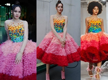 Thai superstars wore costumes designed by students in fashion design department; SSRU.