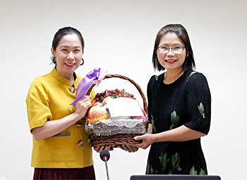 Faculty of Fine and Applied Arts held a Welcome Ceremony for Ms.Chayapa Chaemsai
