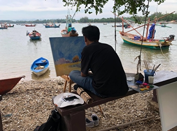 2nd Marine Landscape Painting Project, a Collaboration between Two Universities