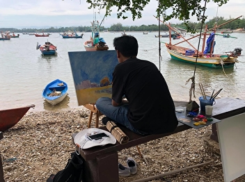 Painting organized the 2nd Marine Landscape Painting Project, a collaboration between 2 universities.