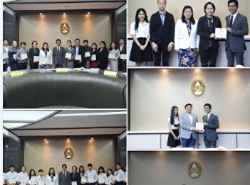 Lecturers and students received certificate Be a benefactor to the university