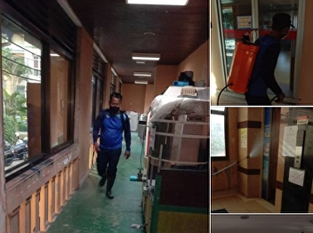 Faculty of Fine and Applied Arts has been sprayed with disinfectants inside their buildings.