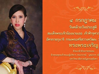 Her Royal Highness Prince Chulabhorn Walailak was born on 4 July. It is today!!